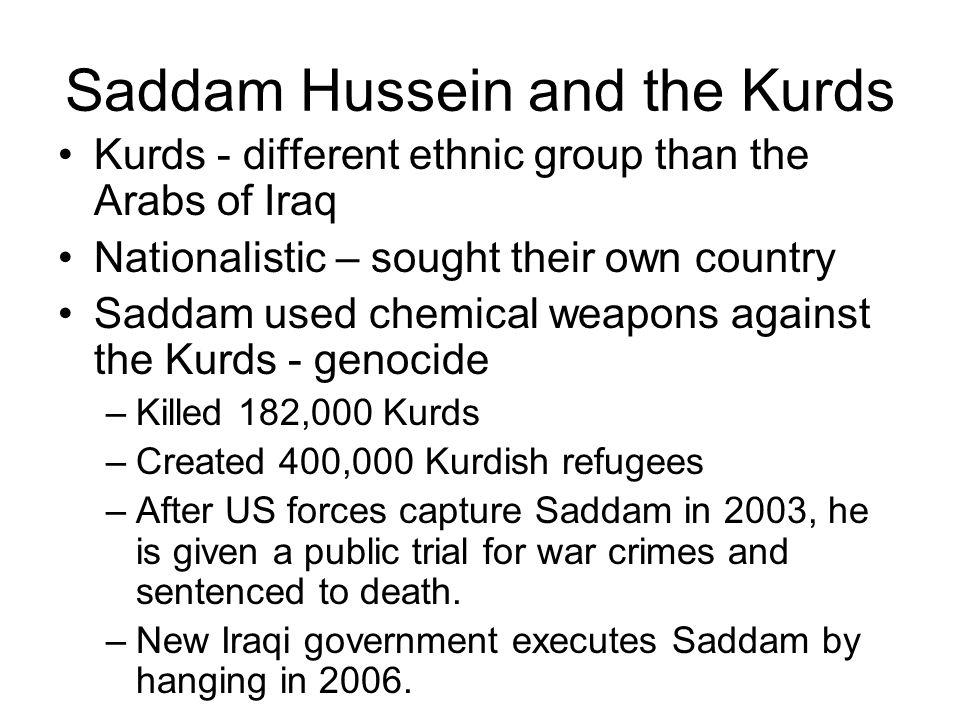Saddam Hussein and the Kurds