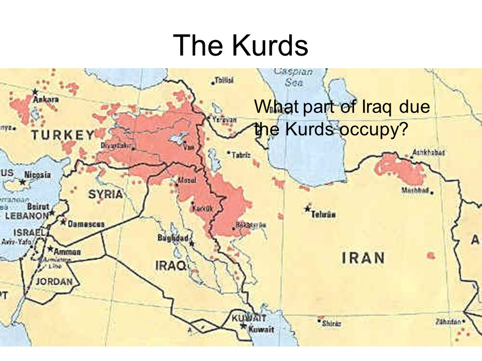 The Kurds What part of Iraq due the Kurds occupy