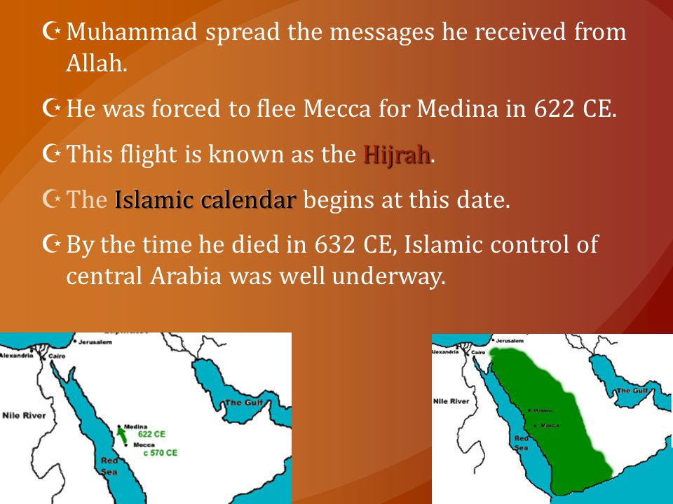 Muhammad spread the messages he received from Allah.