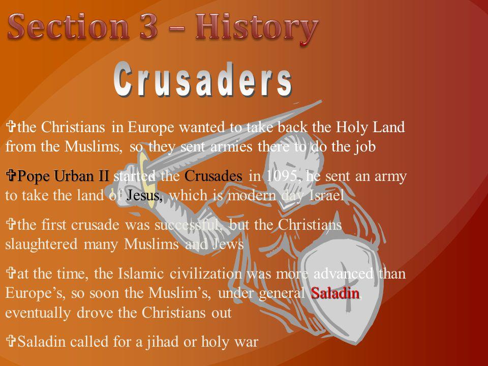 Section 3 – History Crusaders