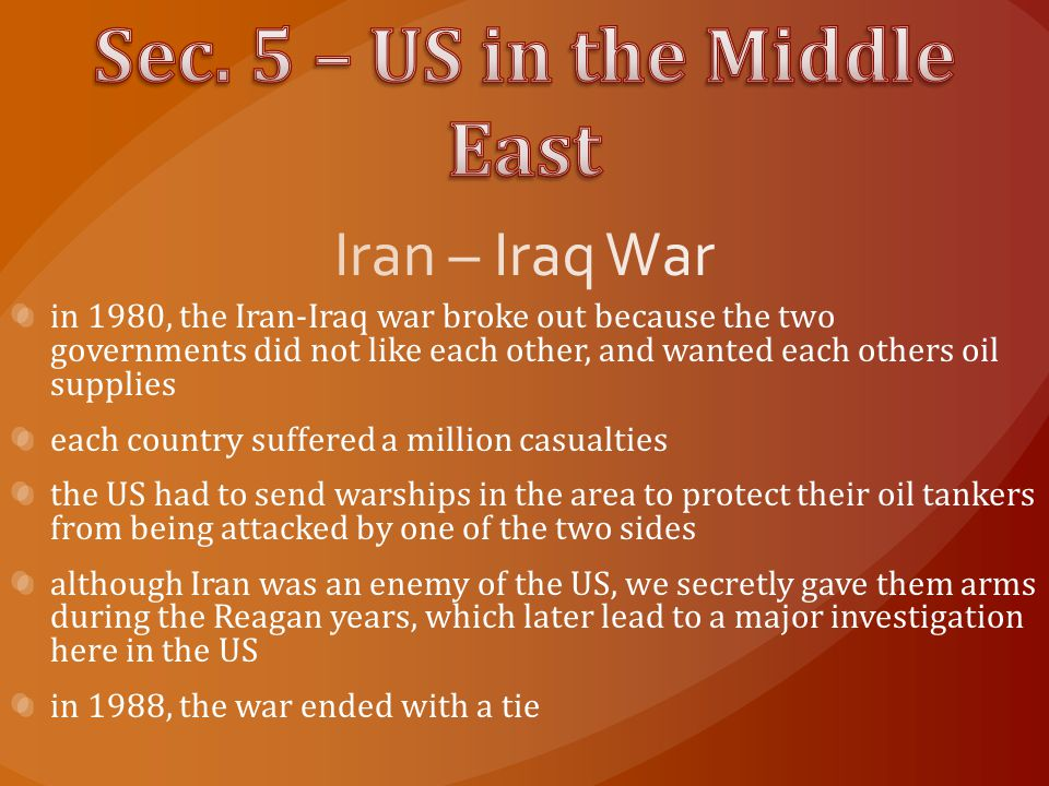 Sec. 5 – US in the Middle East