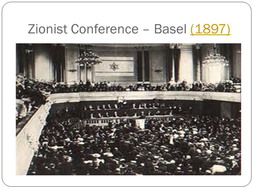 Zionist Conference – Basel (1897)