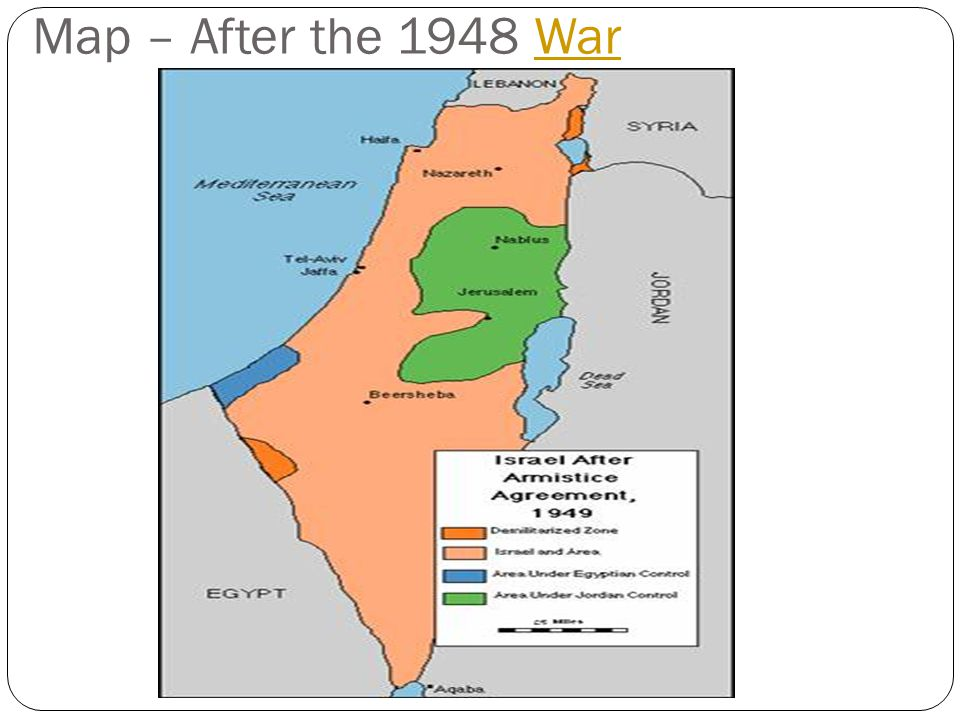 Map – After the 1948 War