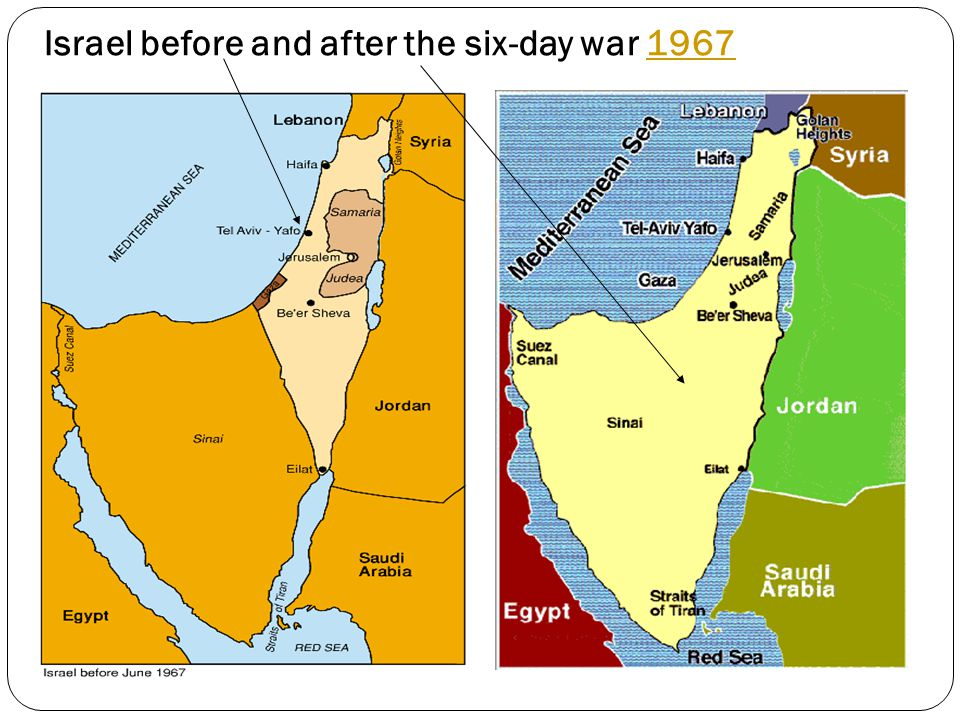 Israel before and after the six-day war 1967