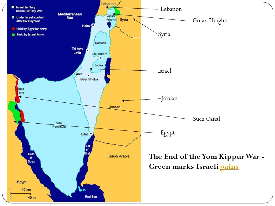 The End of the Yom Kippur War -Green marks Israeli gains