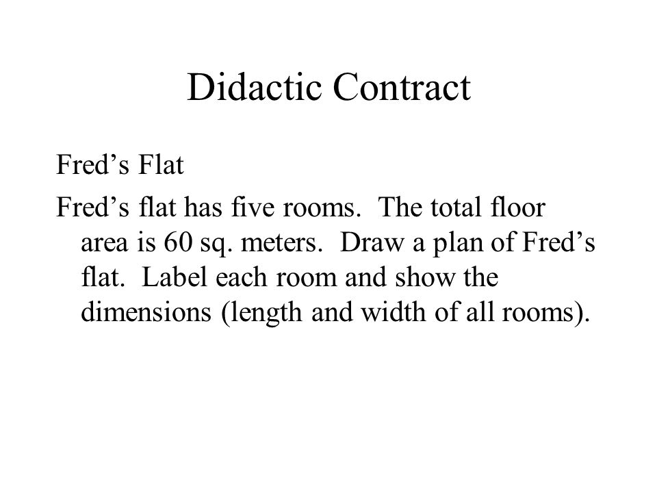 Didactic Contract Fred's Flat