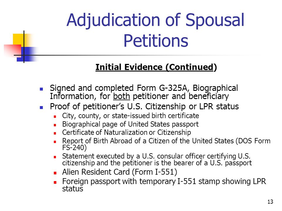 Adjudication of Spousal Petitions