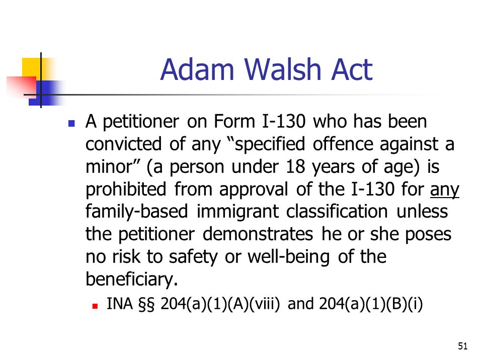 Adam Walsh Act