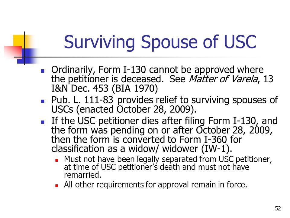Surviving Spouse of USC