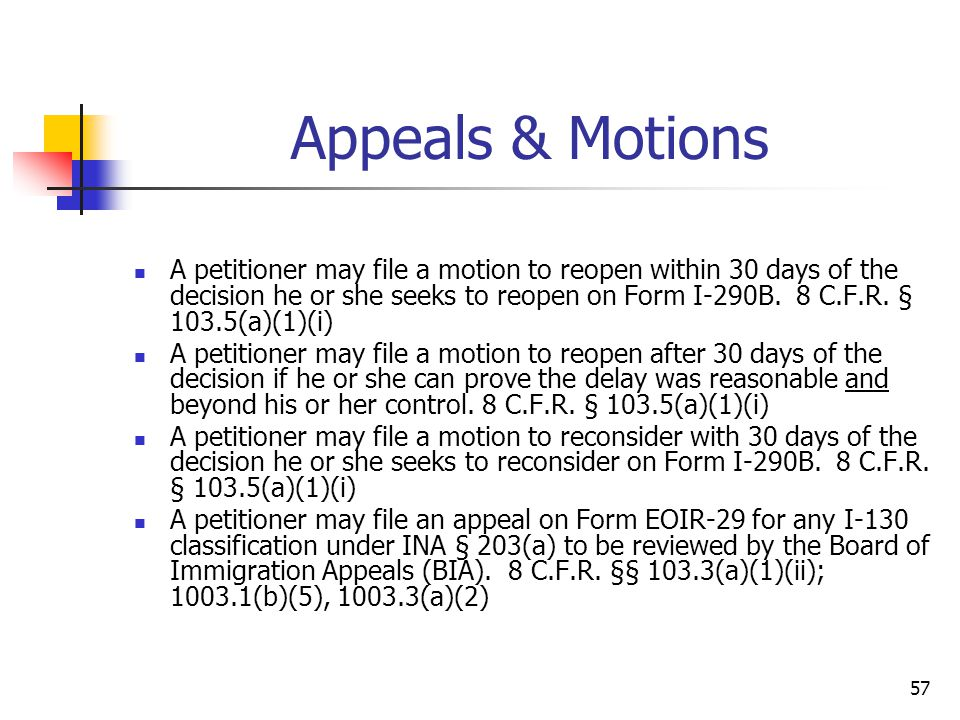 Appeals & Motions