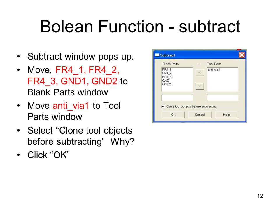 Bolean Function - subtract