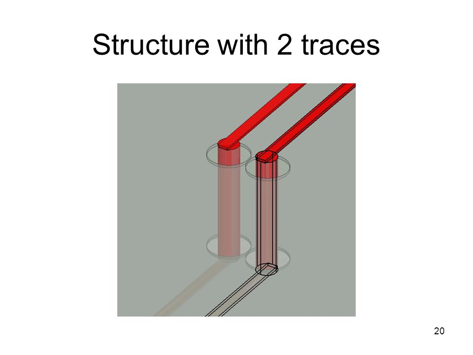 Structure with 2 traces