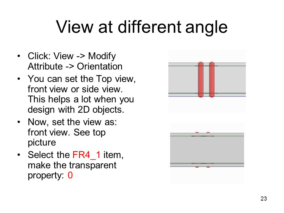 View at different angle