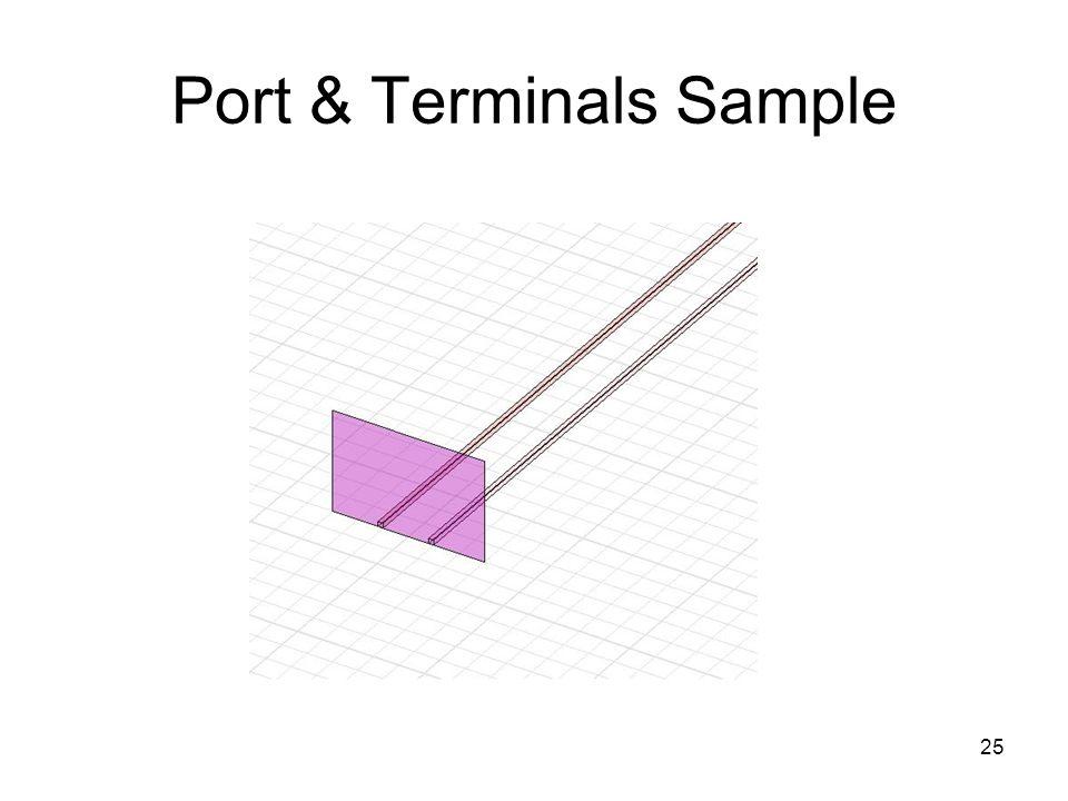Port & Terminals Sample