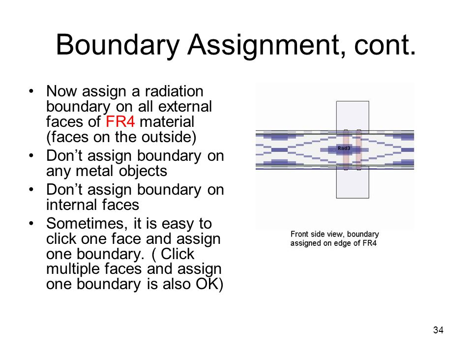 Boundary Assignment, cont.