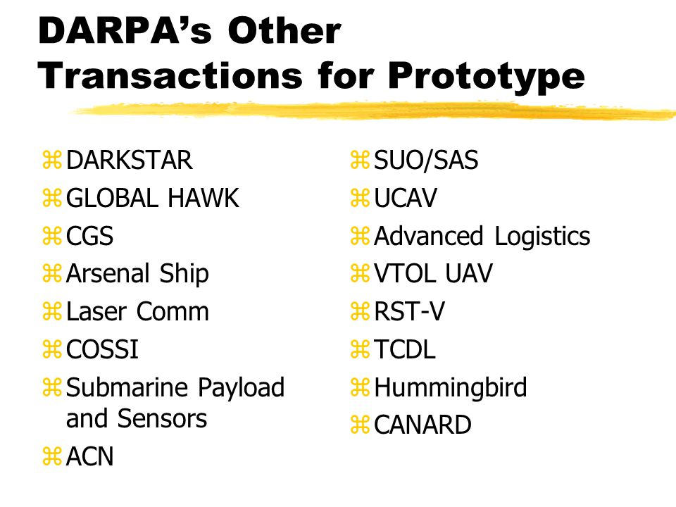 DARPA's Other Transactions for Prototype