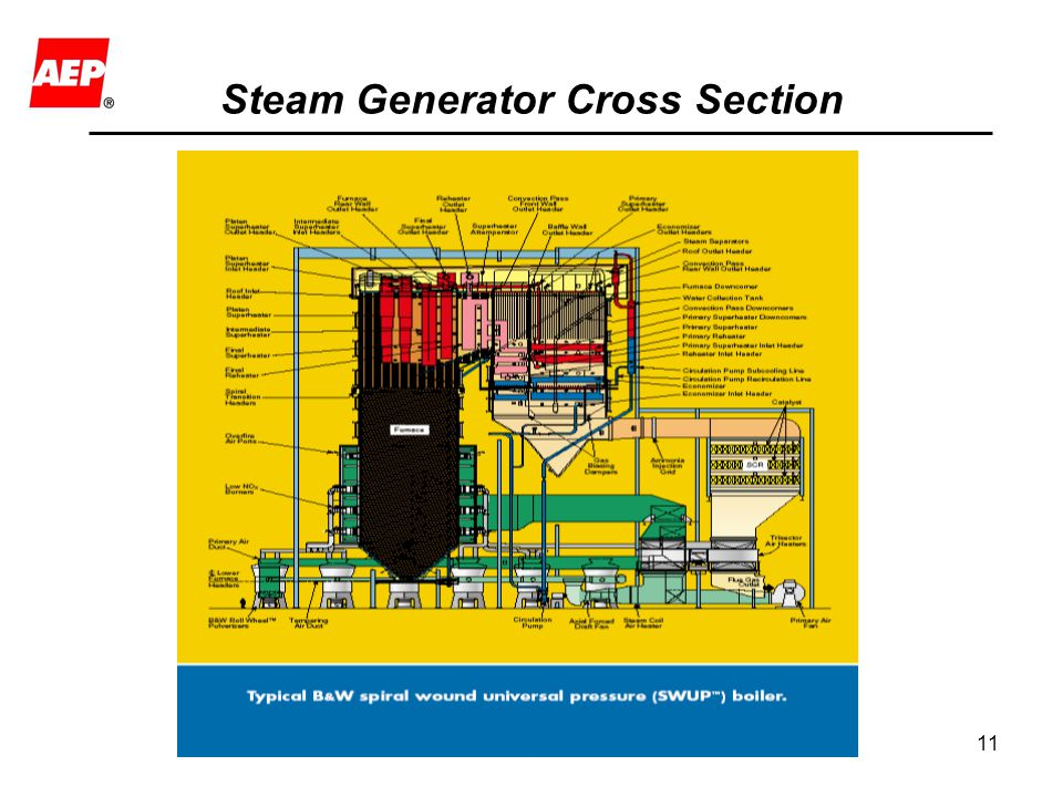 Steam Generator Cross Section