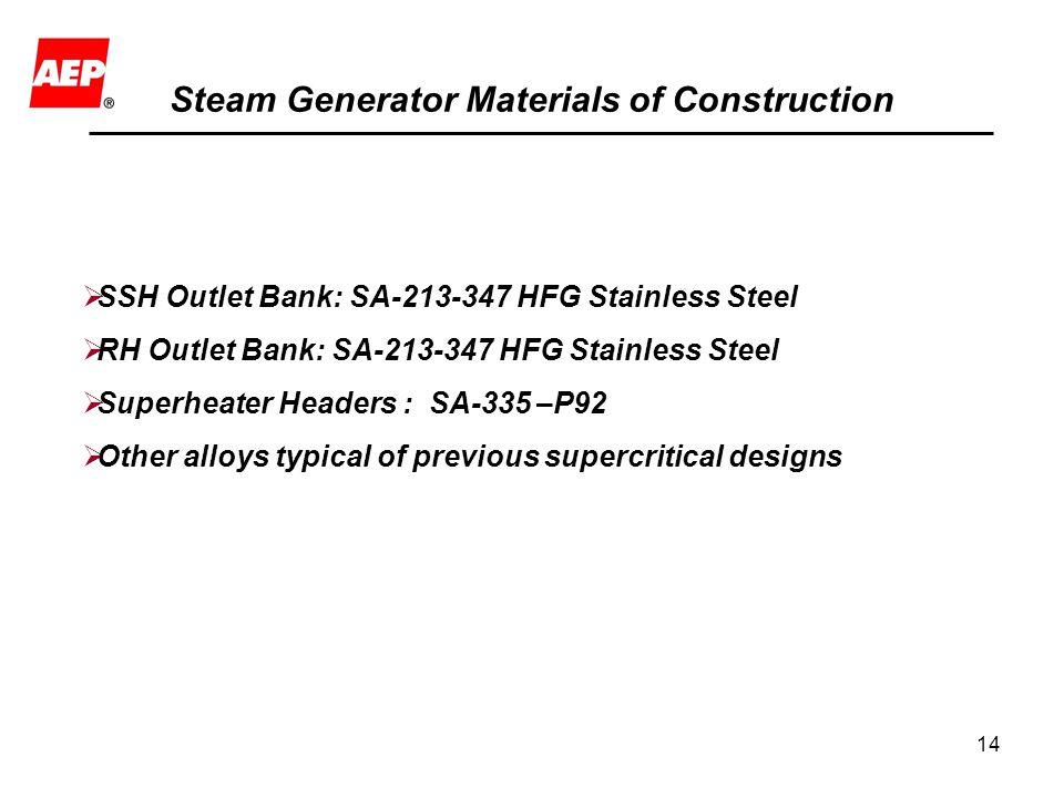 Steam Generator Materials of Construction