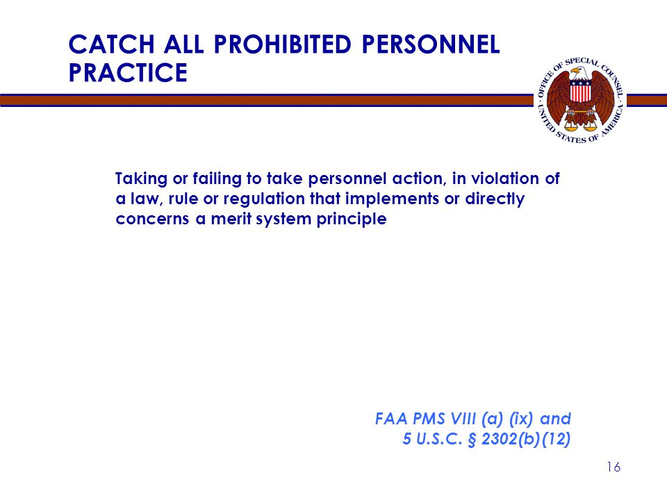CATCH ALL PROHIBITED PERSONNEL PRACTICE