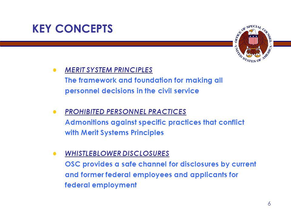 KEY CONCEPTS MERIT SYSTEM PRINCIPLES