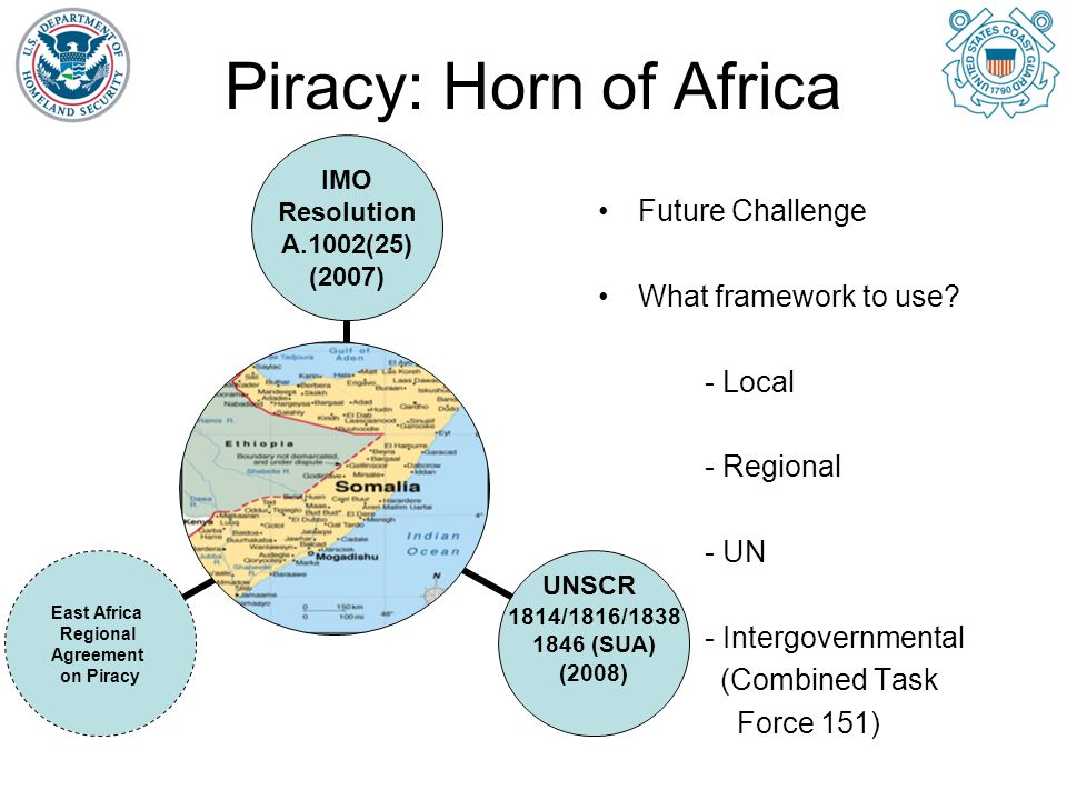 Piracy: Horn of Africa Future Challenge What framework to use - Local