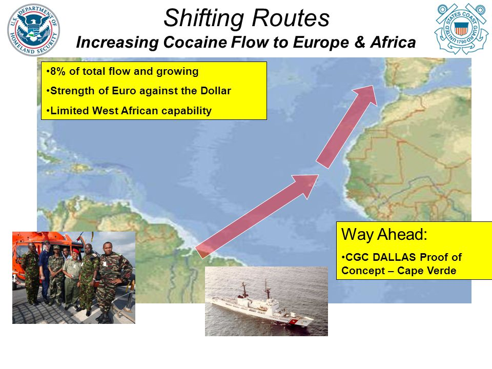 Shifting Routes Increasing Cocaine Flow to Europe & Africa