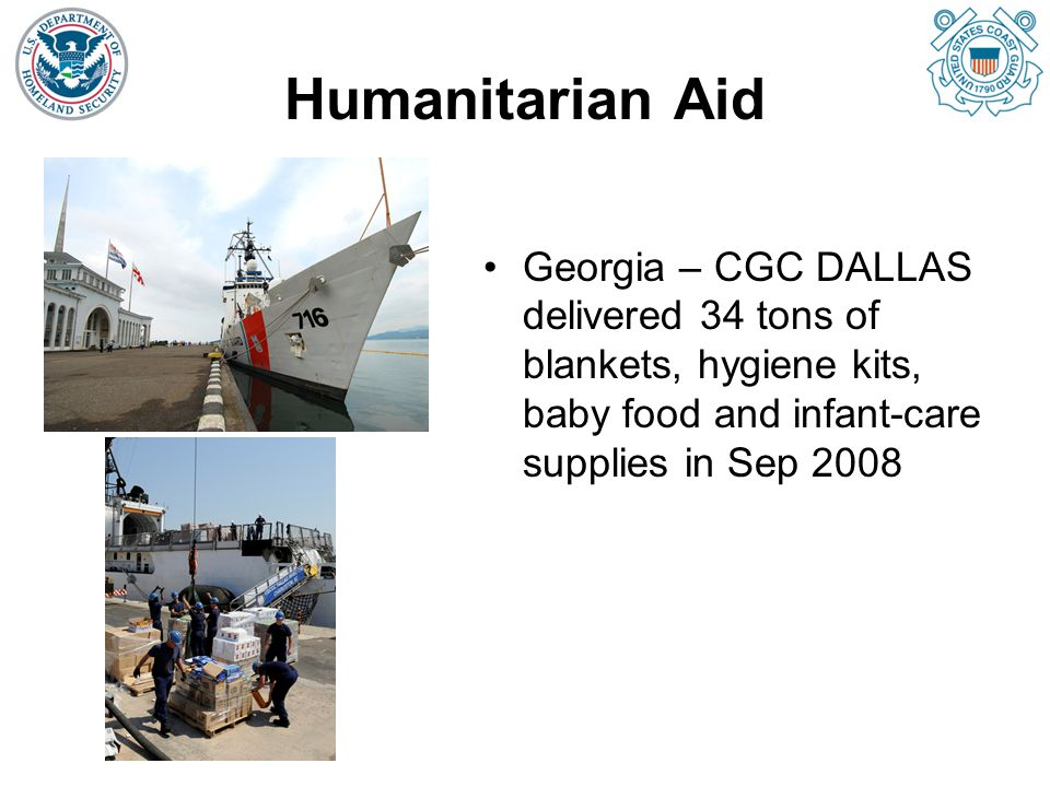 Humanitarian Aid Georgia – CGC DALLAS delivered 34 tons of blankets, hygiene kits, baby food and infant-care supplies in Sep 2008.