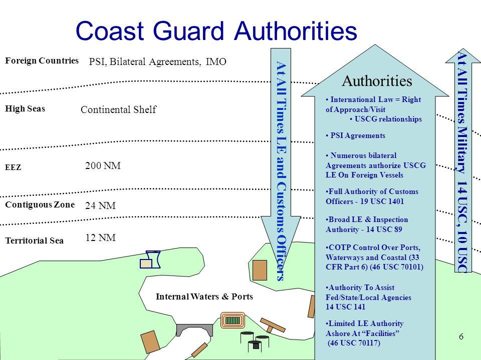 Coast Guard Authorities