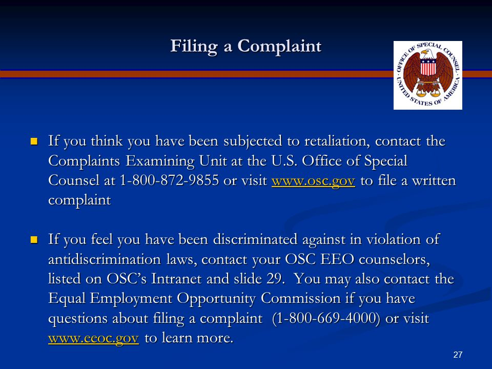 Apr-17 Filing a Complaint.