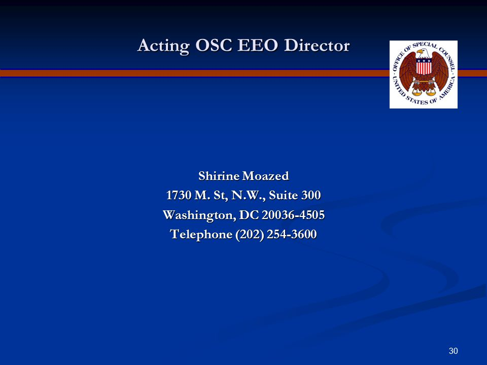 Acting OSC EEO Director