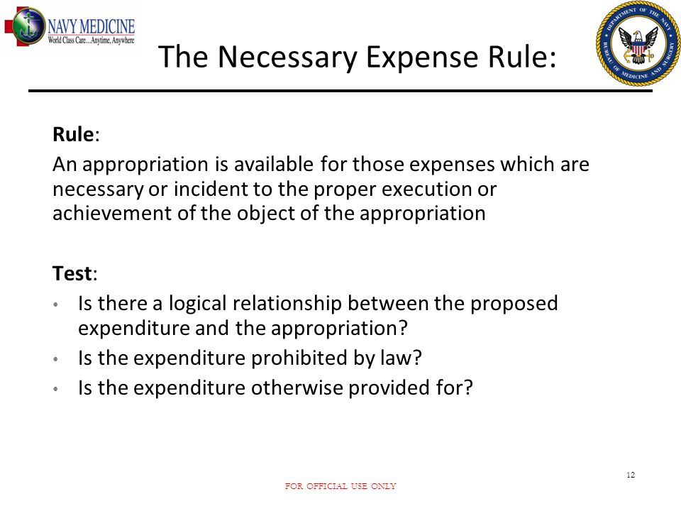 The Necessary Expense Rule: