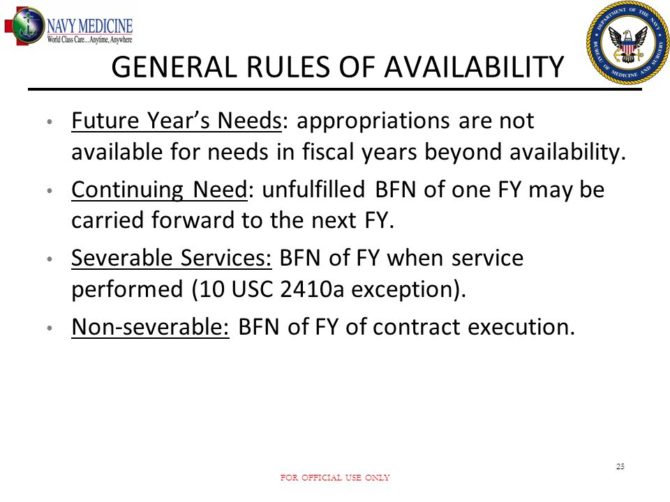 GENERAL RULES OF AVAILABILITY