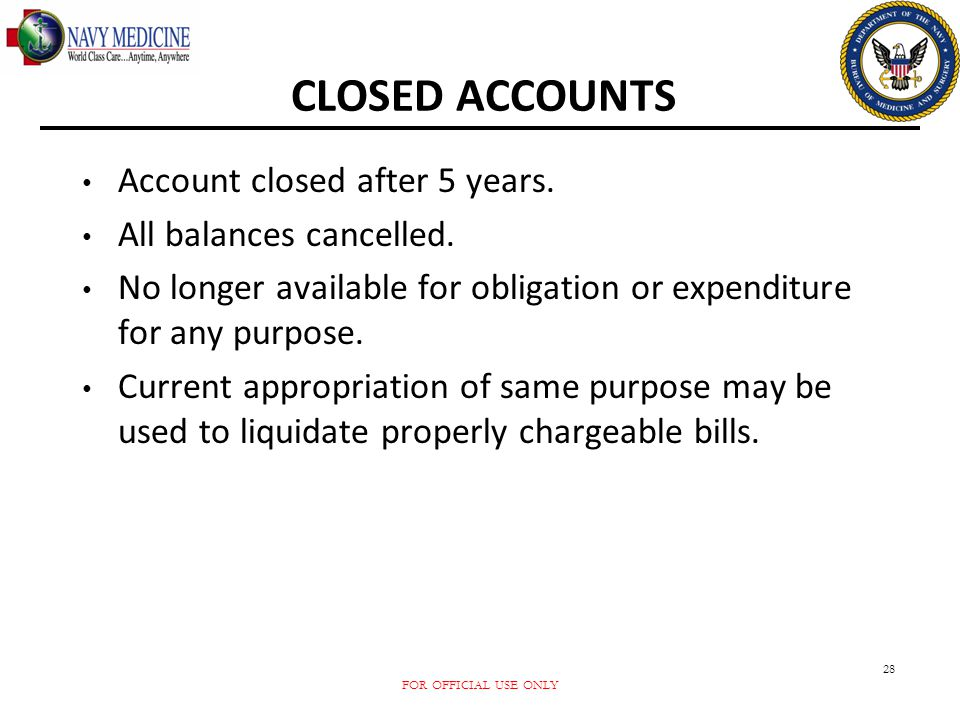 CLOSED ACCOUNTS Account closed after 5 years. All balances cancelled.