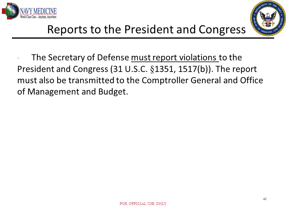 Reports to the President and Congress
