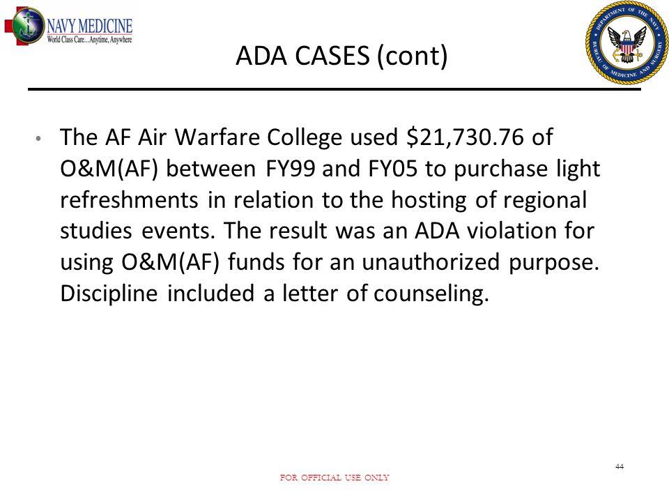 ADA CASES (cont)