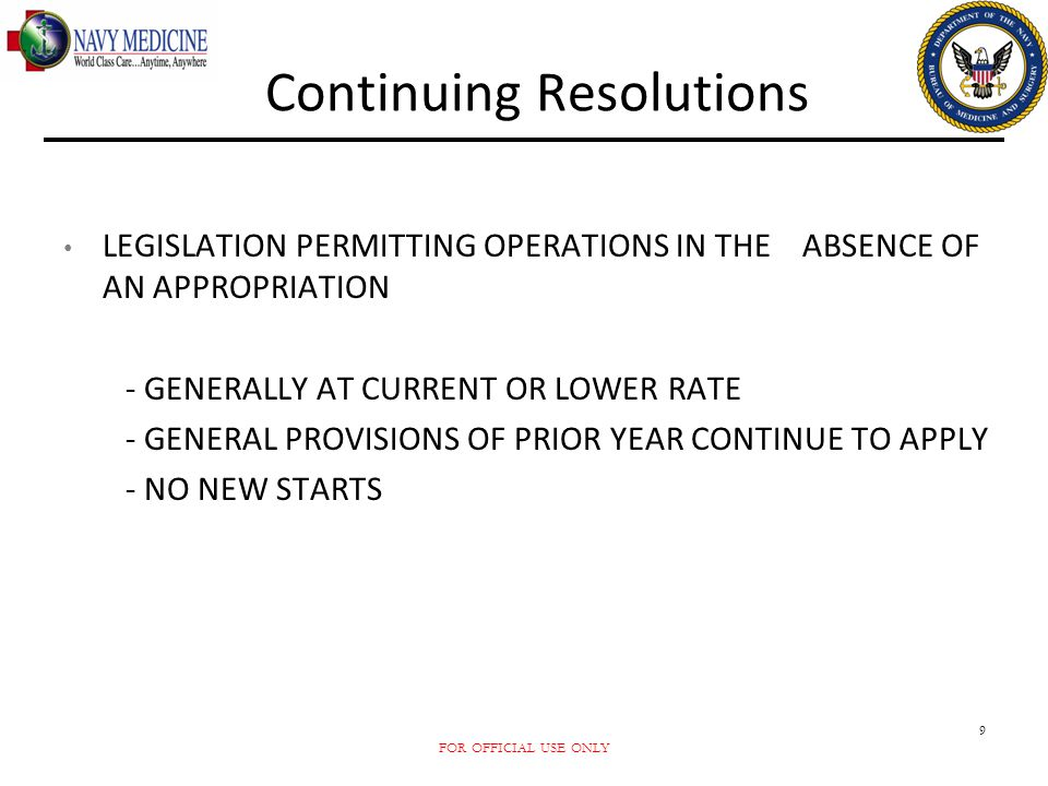 Continuing Resolutions
