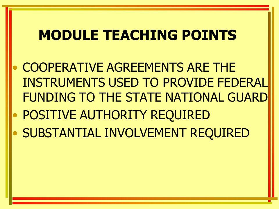MODULE TEACHING POINTS