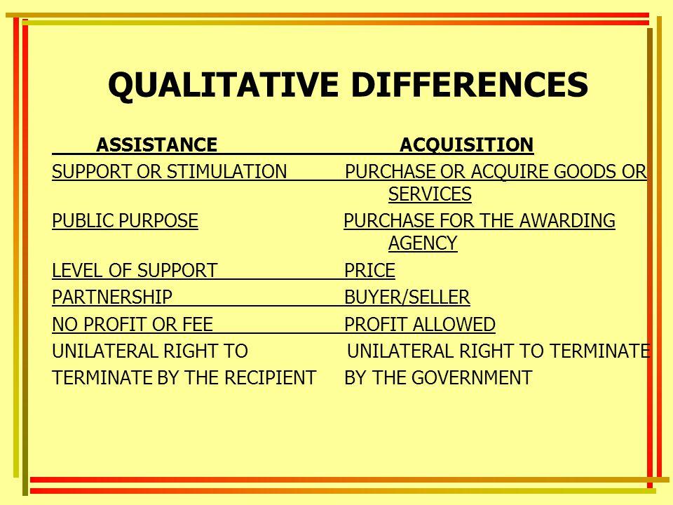 QUALITATIVE DIFFERENCES