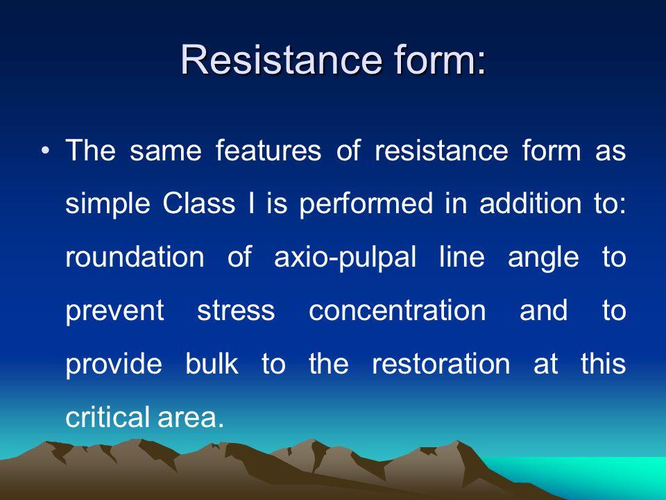 Resistance form: