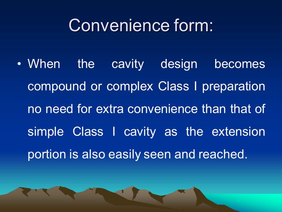 Convenience form: