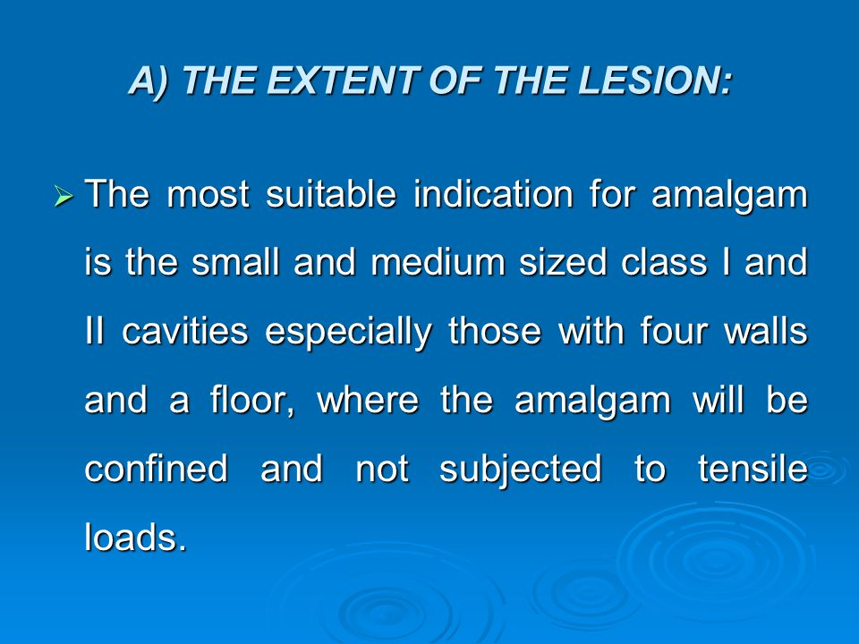 A) THE EXTENT OF THE LESION: