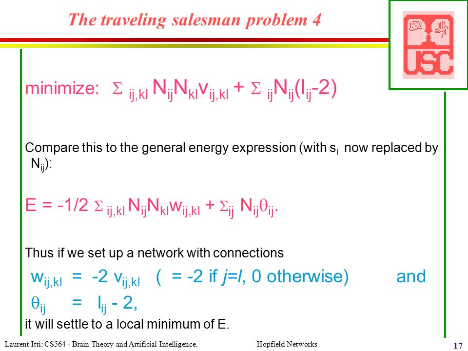 The traveling salesman problem 4