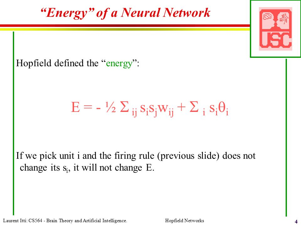 Energy of a Neural Network