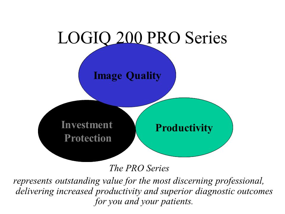 LOGIQ 200 PRO Series Image Quality Professional Productivity