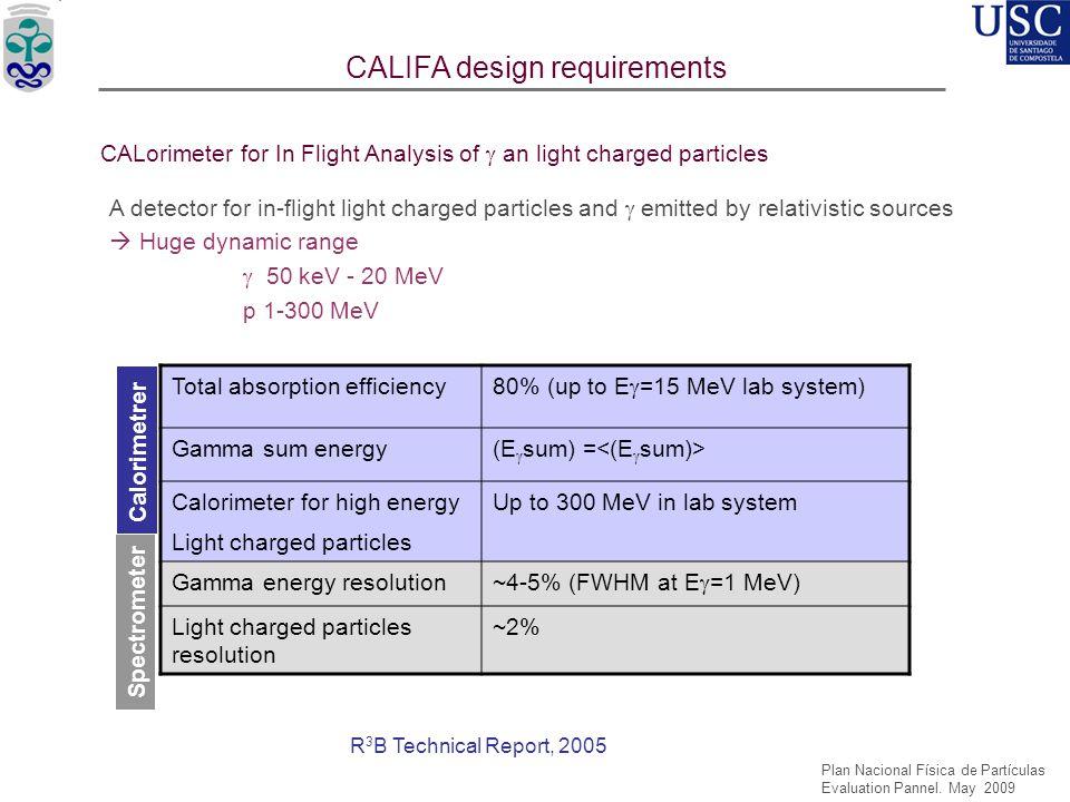 CALIFA design requirements