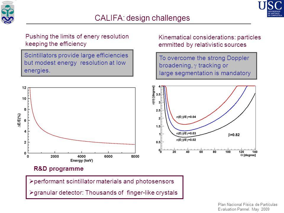 CALIFA: design challenges