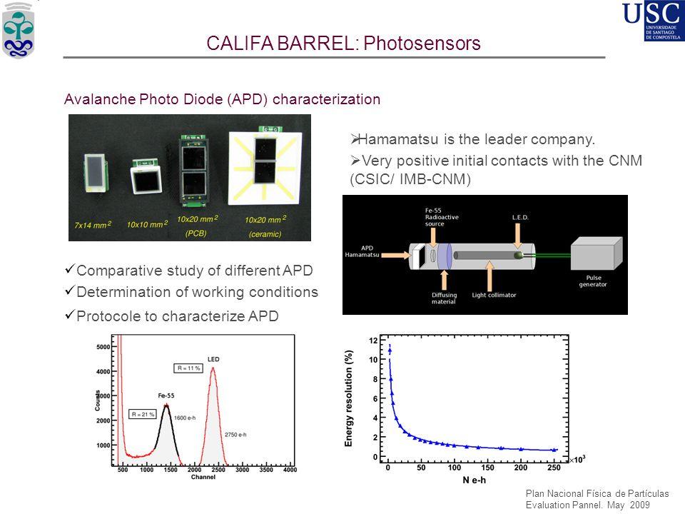 CALIFA BARREL: Photosensors
