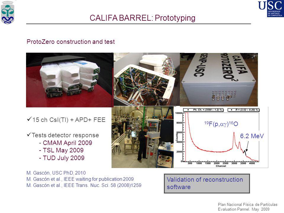 CALIFA BARREL: Prototyping
