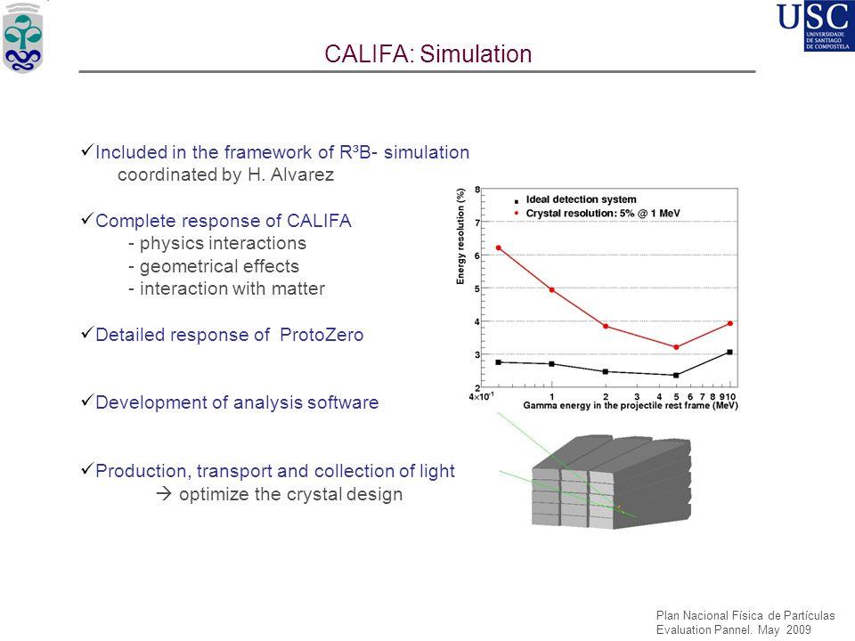 CALIFA: Simulation USC'05 USC'06 USC'08