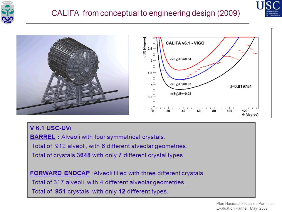 CALIFA from conceptual to engineering design (2009)